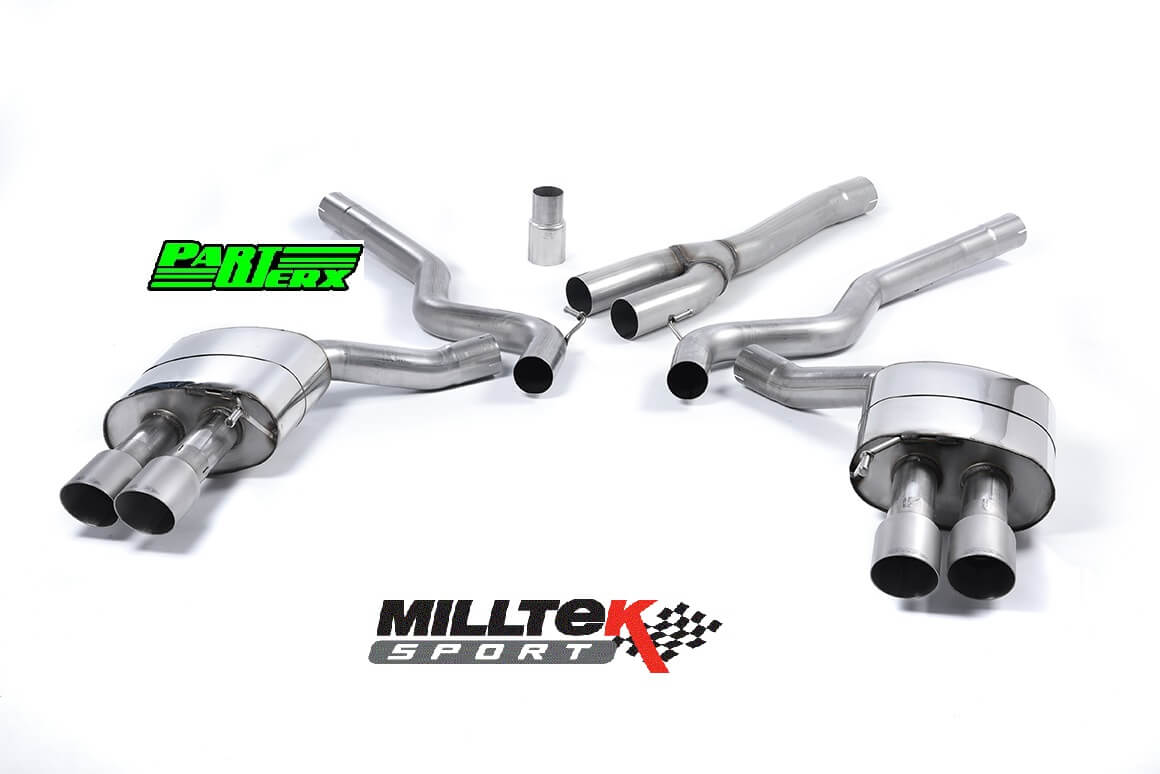 Ford Mustang 2.3 EcoBoost MILLTEK CAT Back Exhaust System 4x Titanium GT Non Res SSXFD179