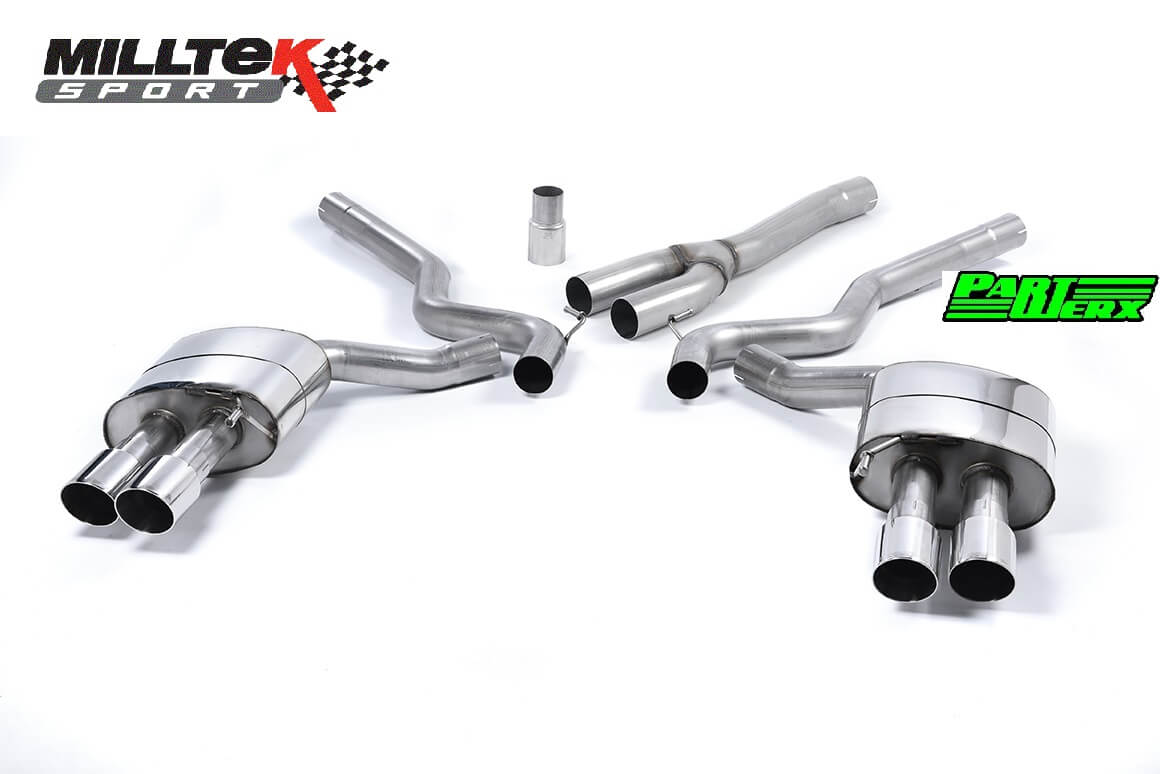 Ford Mustang 2.3 EcoBoost MILLTEK CAT Back Exhaust System 4x Polished GT90 Res SSXFD182