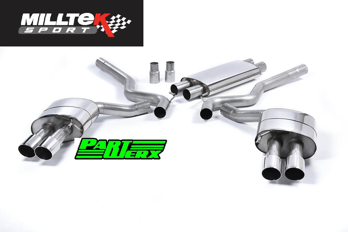 Ford Mustang Milltek res quad polished exhaust