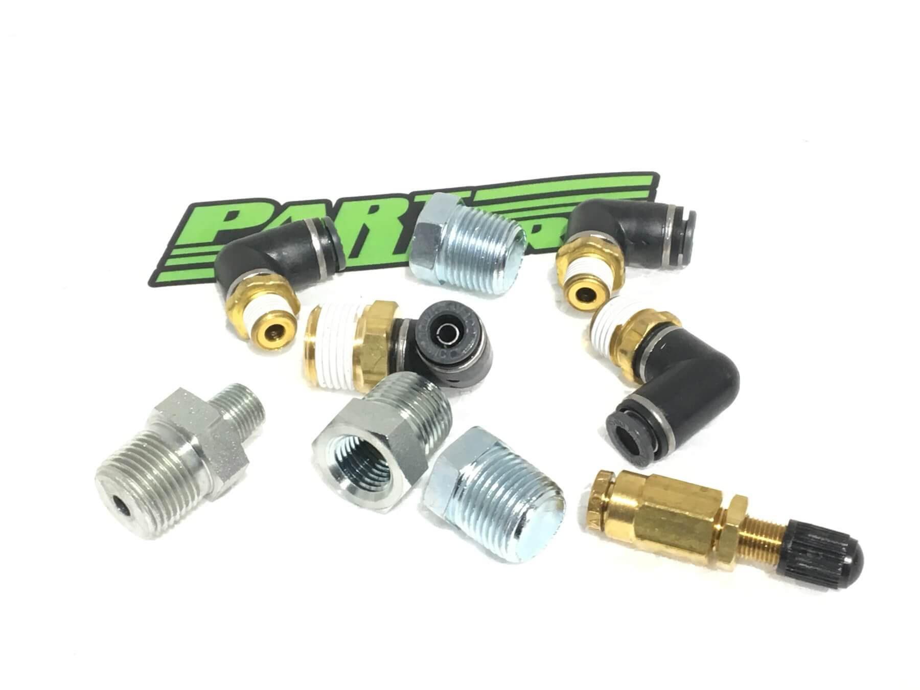 """Air Lift Fitting pack for 5 Gallon Aluminum Tank with 1/4"""" lines and APV2 (11956 or 12956) Air Ride Suspension"""