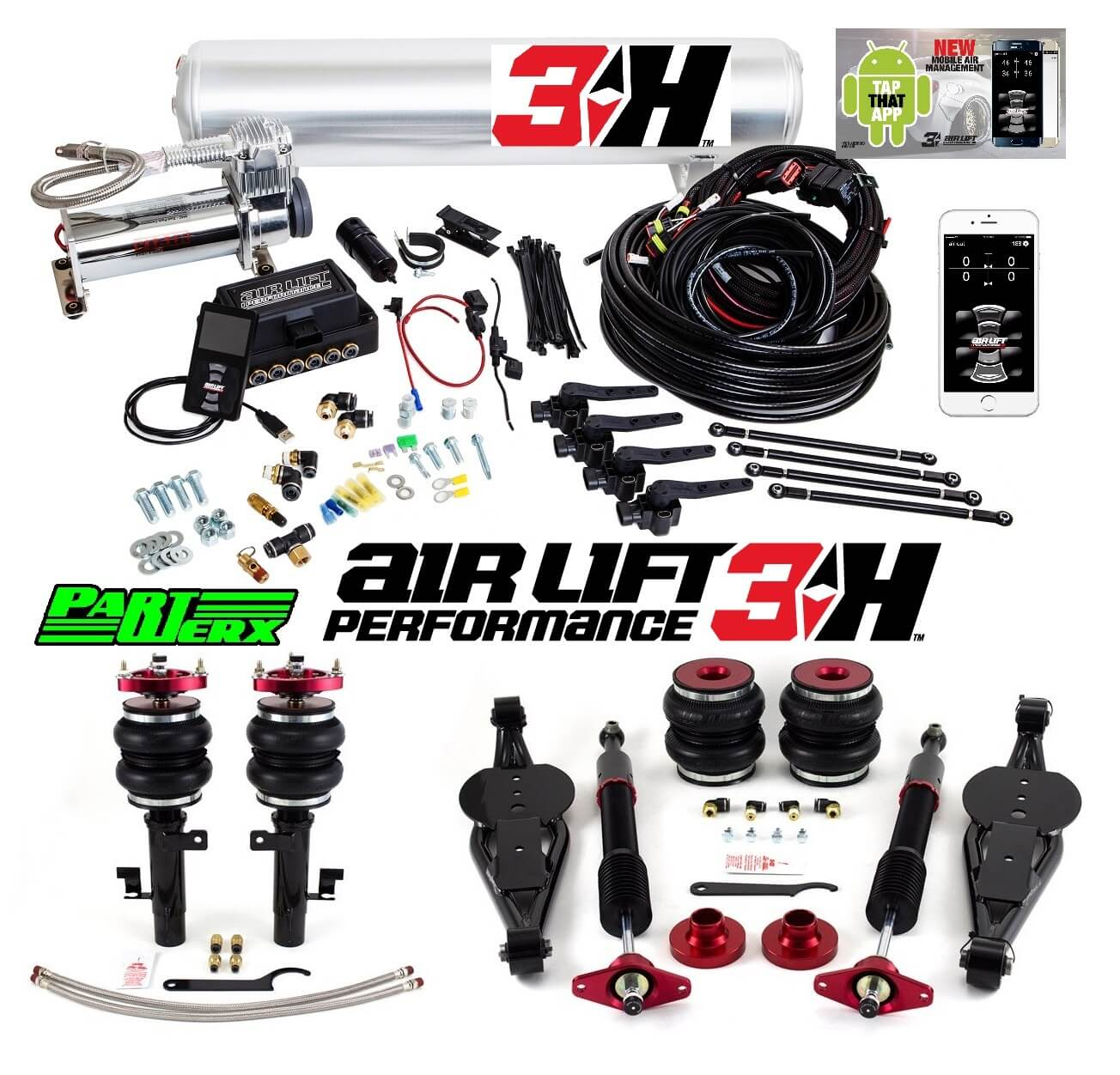 Ford Focus ST RS Air Lift 3H 14 Management + Performance Series Kit
