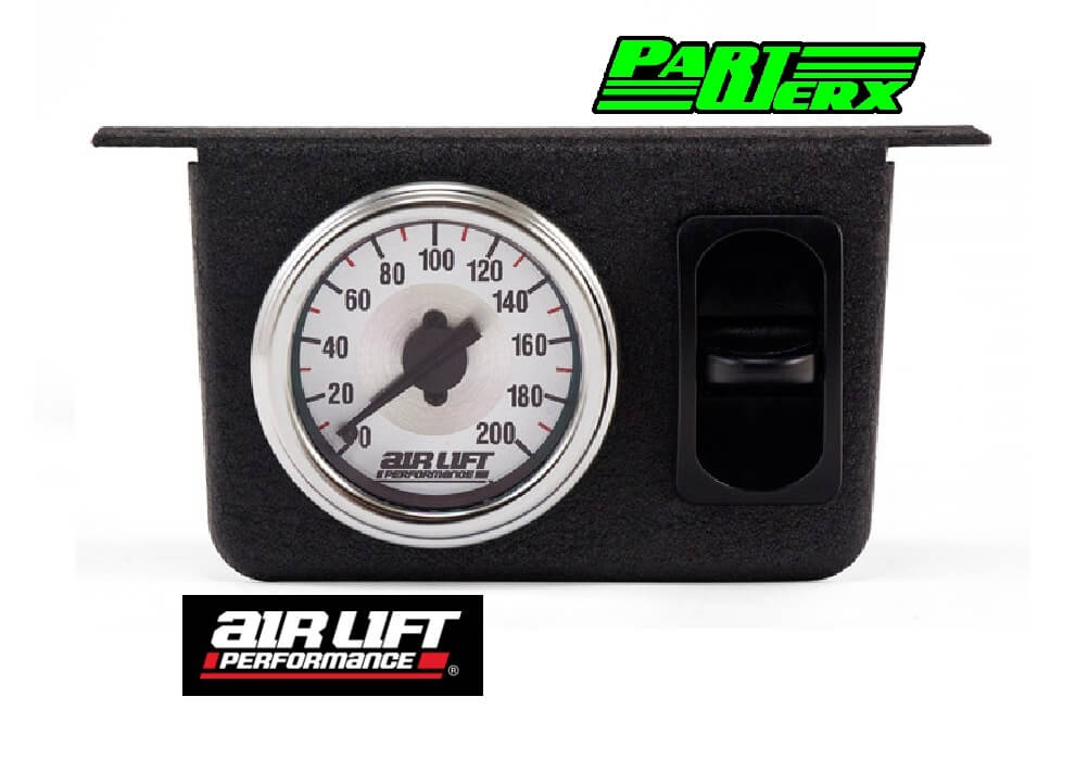 Single Needle Gauge Panel with one paddle switch- 200 PSI Air Lift Performance Parts & Accessories