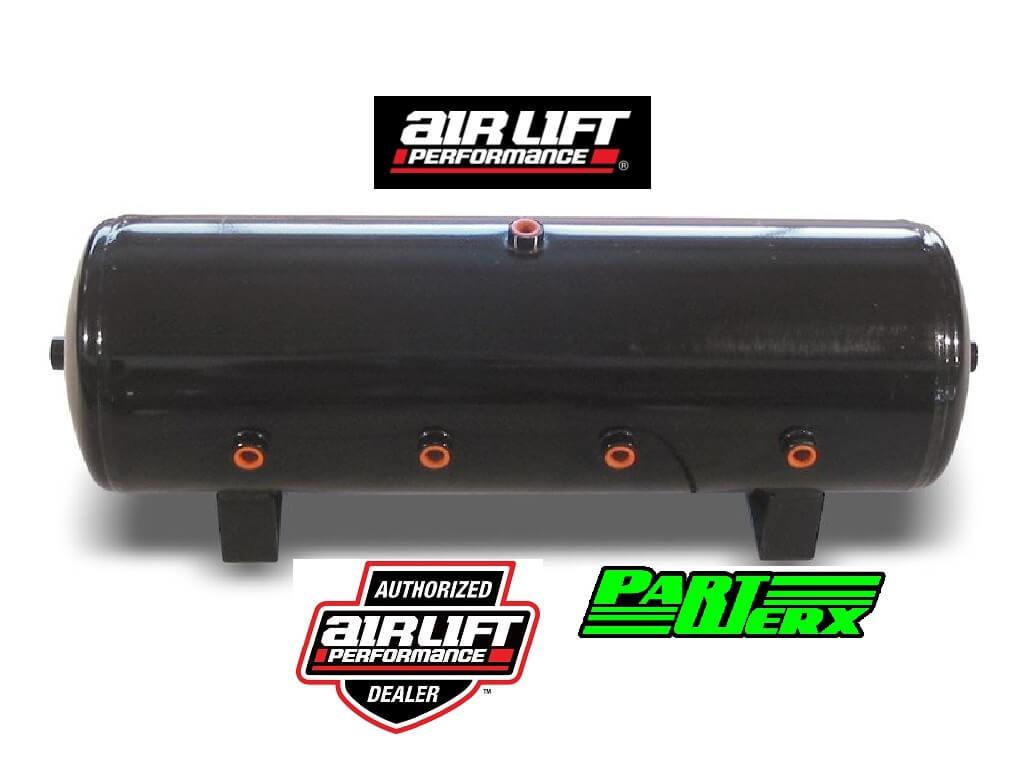 """Air Lift 8.5 Gal Air Tank- 12 1/2"""" H x 32 1/2 L with (8) 1/2"""" Ports Air Lift Suspension"""