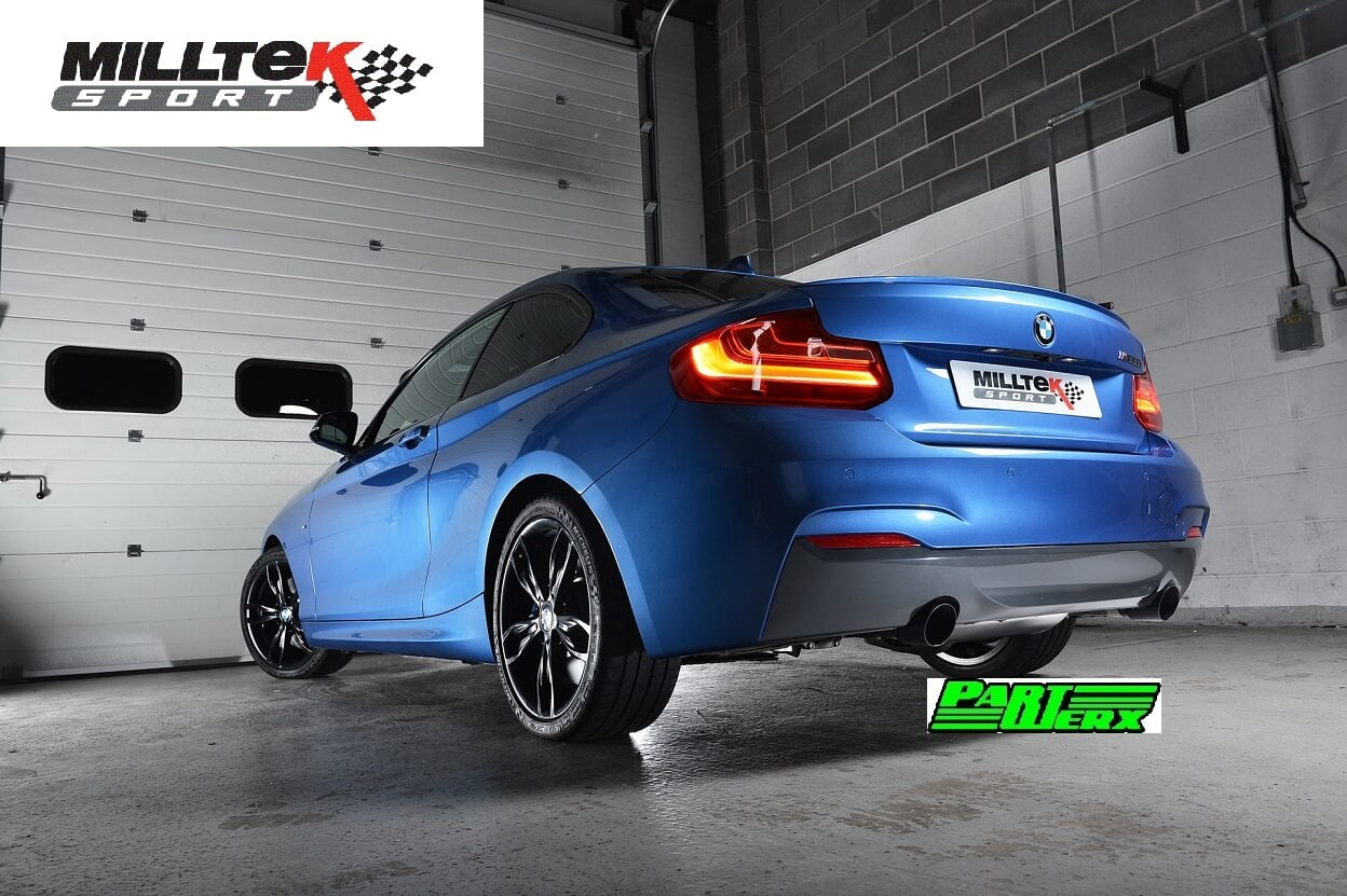 BMW 2 Series F22 M235i Coupe MILLTEK Sport Cat Back Race Exhaust