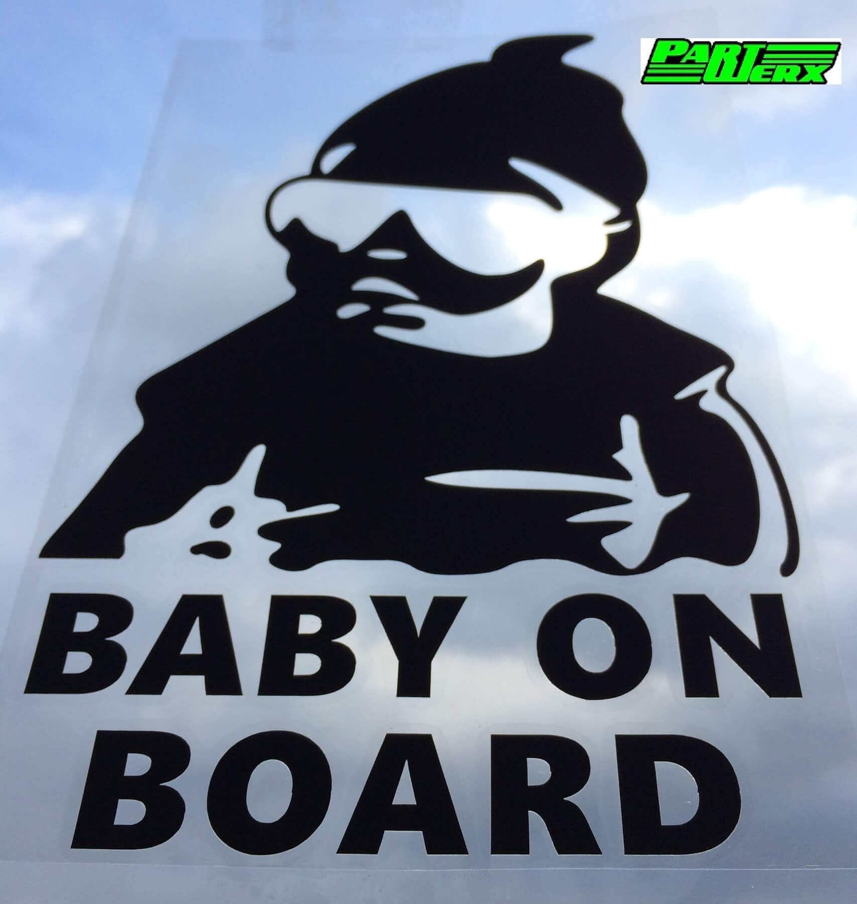 Baby On Board Sticker Large Bumper Sign For BMW Mazda Toyota MG Renault Volvo Owners
