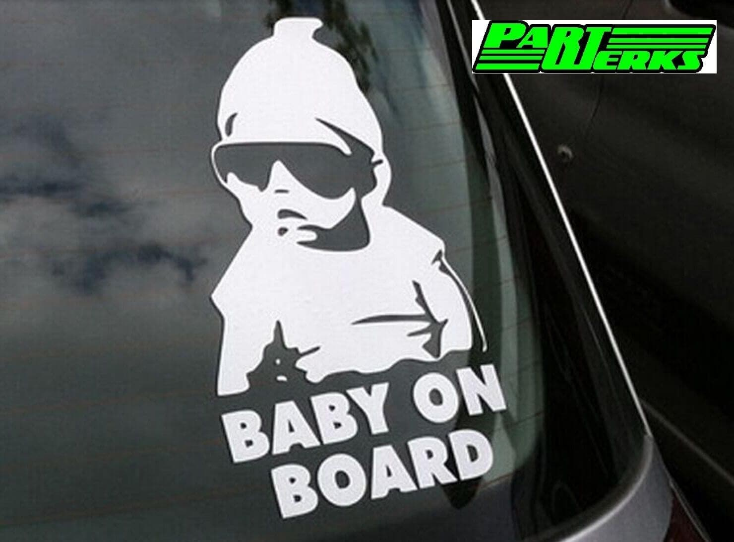 Baby On Board Sticker Sign For BMW Mazda Toyota MG Renault Volvo Owners