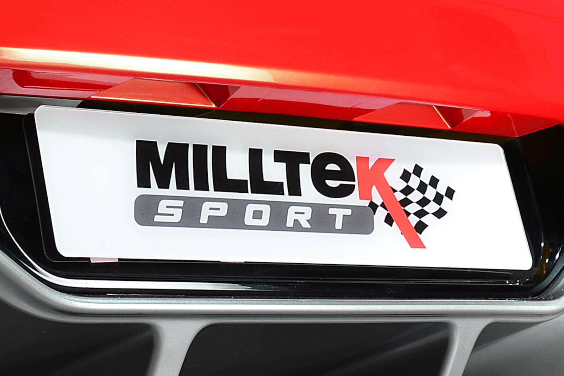 Milltek Sport White Number Plate For Owners & Fans Ideal for Shows Track Events Photo Shoots