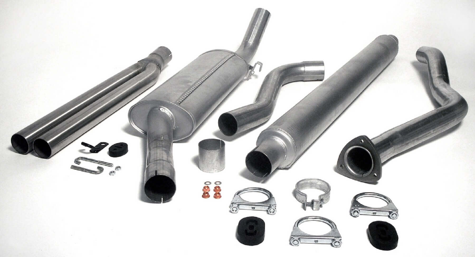 Saab 900 Turbo Jetex Performance Aluminised Steel Full Exhaust System with Twin Round 57mm Tail Pipes