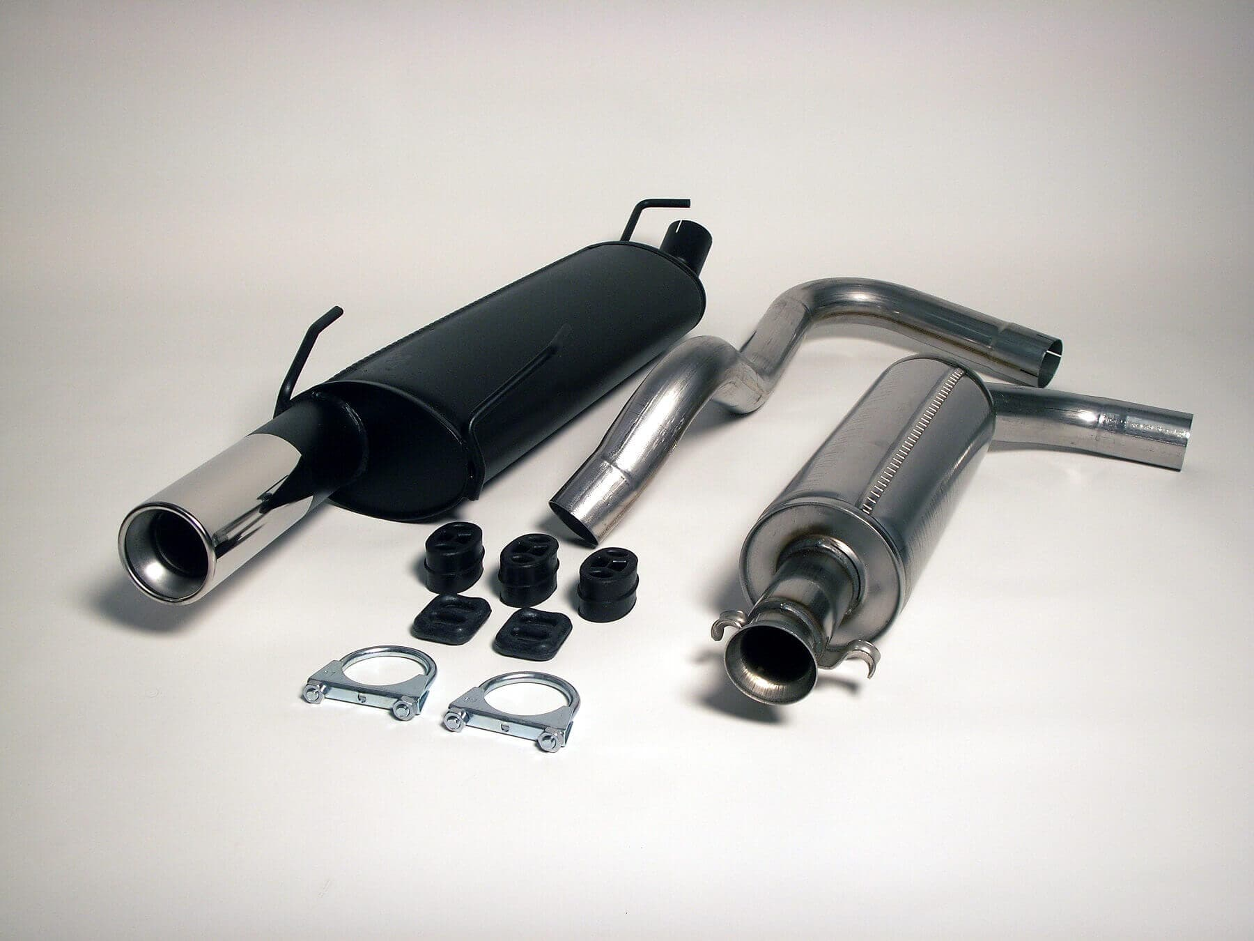 Saab 900 Turbo Coupe Cabrio Jetex Performance Stainless Steel Cat Back Exhaust System with Round 90mm Tail Pipe