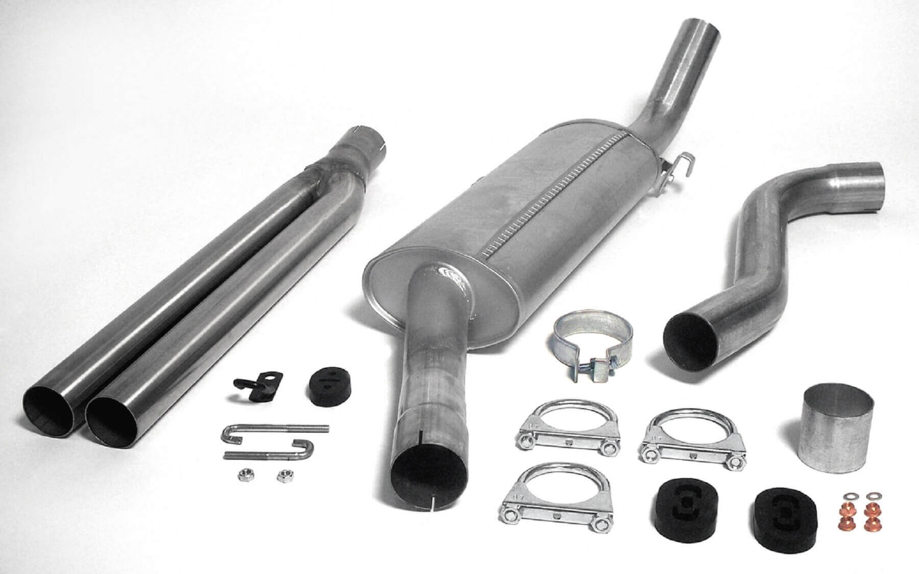 Saab 900 Turbo Jetex Performance Aluminised Steel Half Exhaust System with Twin Round 57mm Tail Pipes