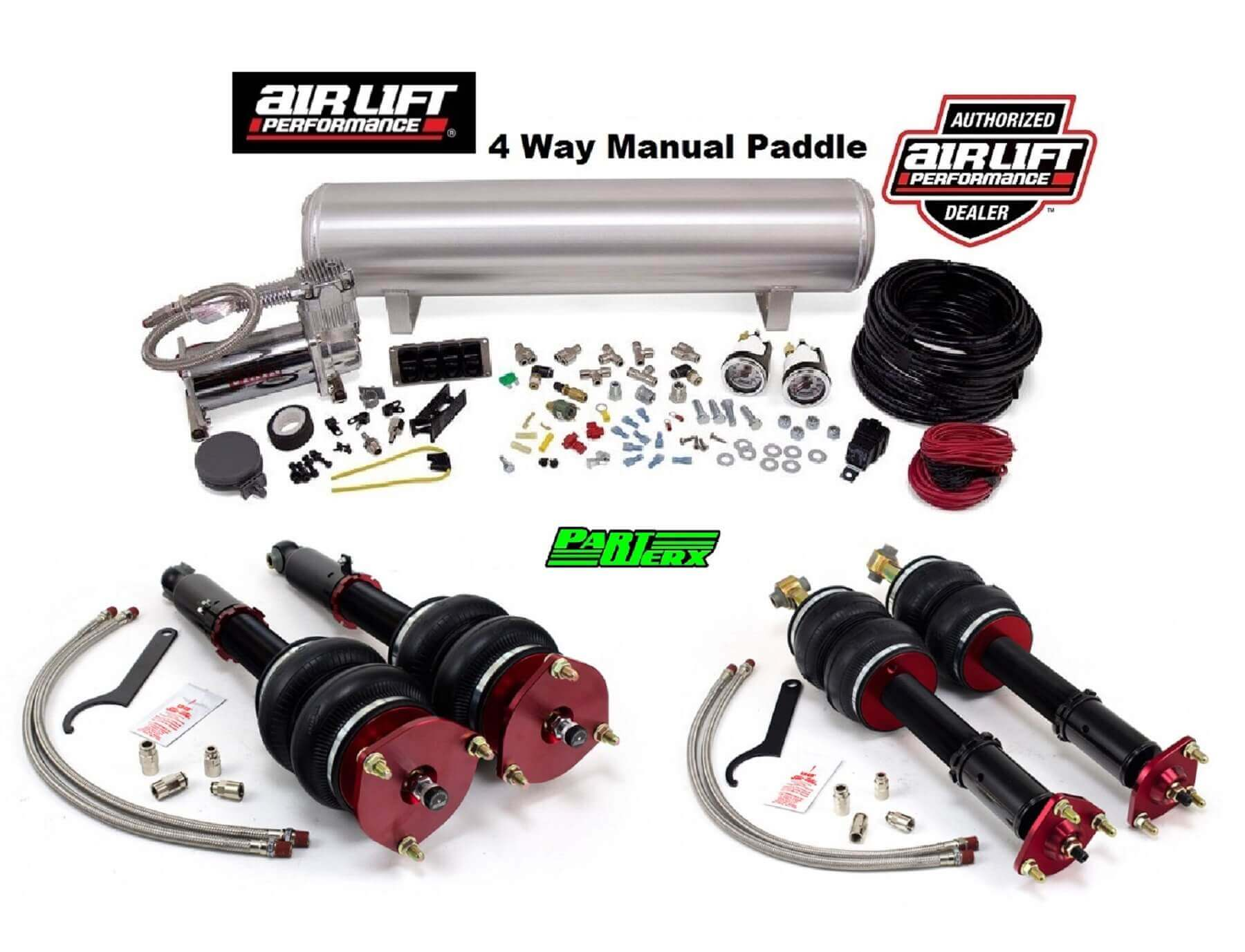 Lexus GS 300 400 430 air lift performance kit with 4 way manual management