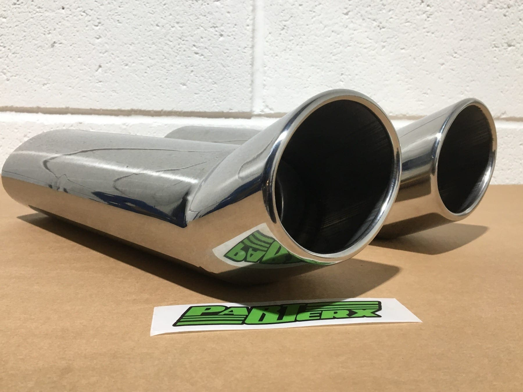 """4"""" Oval Exits Swept Exhaust Tips For Catback Turbo Back Custom Build System DIY Universal Parts"""