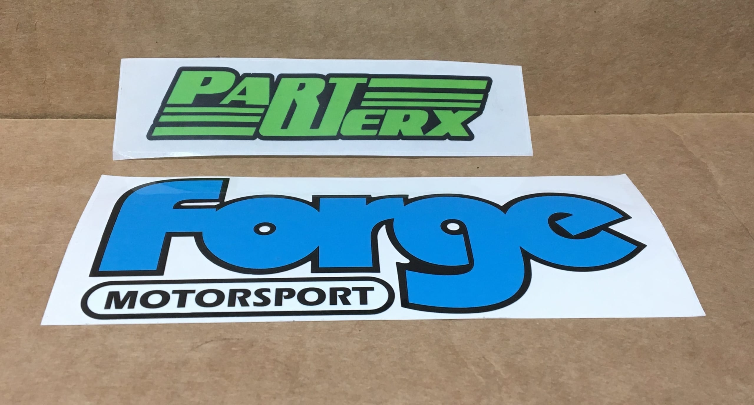 Forge Motorsport Vinyl Sticker Decal Blue Slap on Self Adhesive Fans Accessory Gift