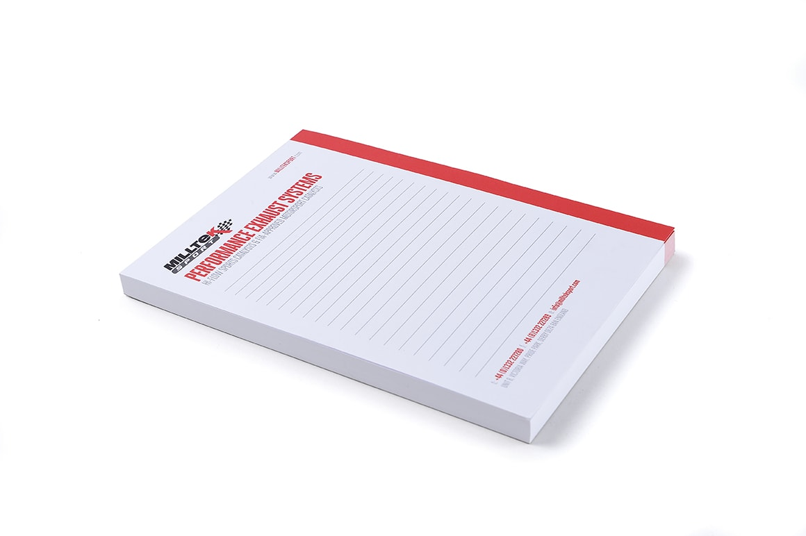 Milltek Sport A5 Notepad Paper Notes Writing Jotter Official Genuine Merchandise