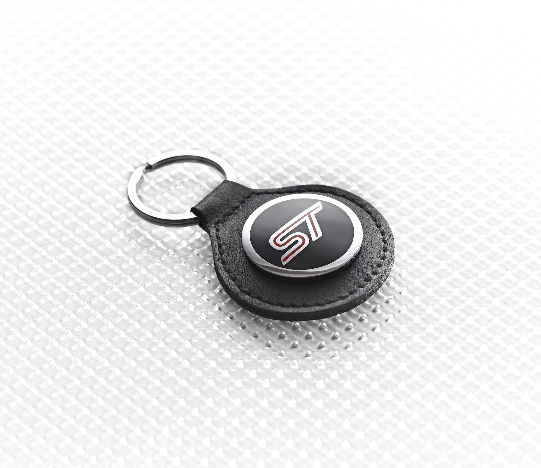 Official Licensed Ford Merchandise ST Logo Key Ring - Black