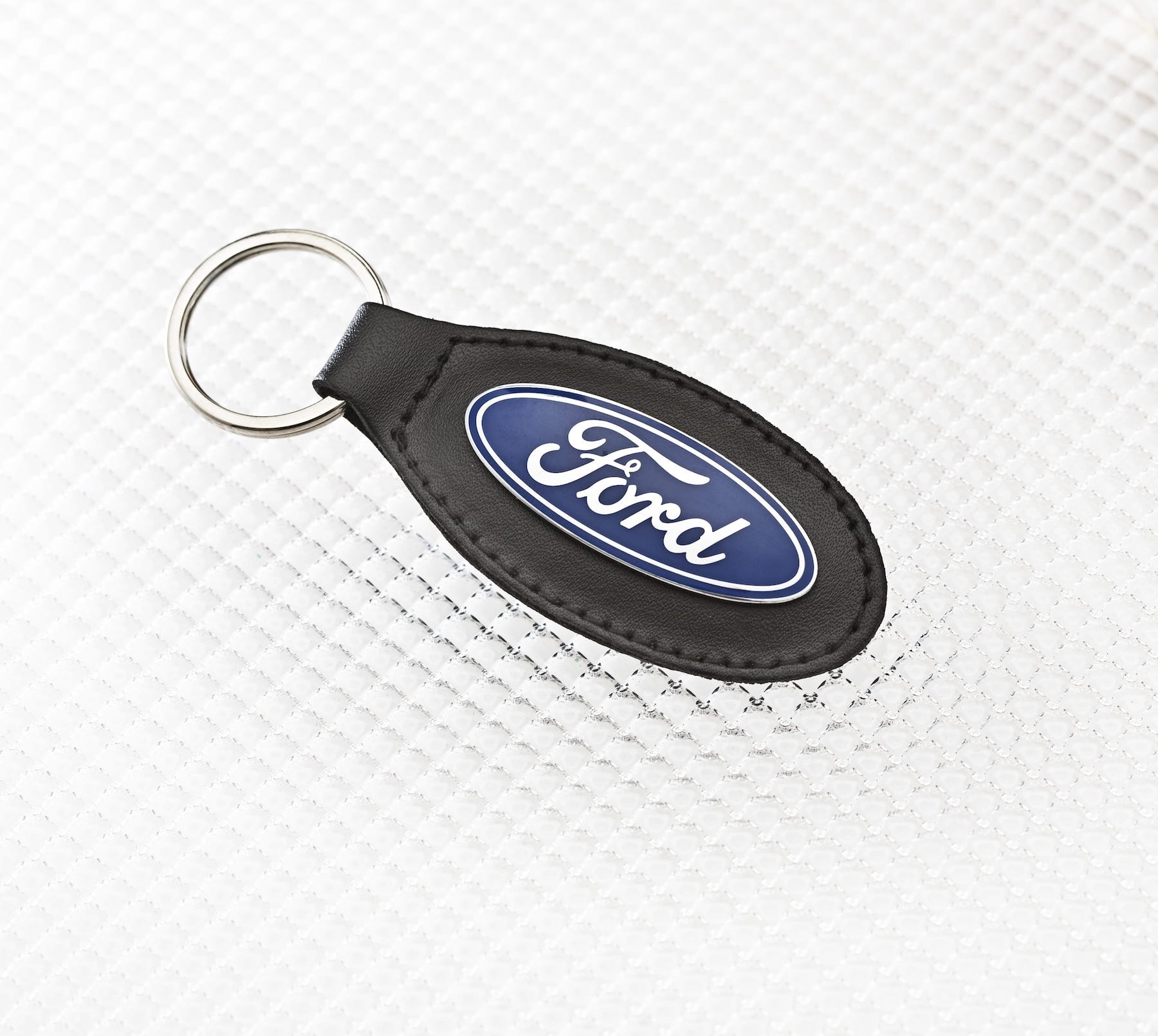 Official Licensed Ford Merchandise Ford Logo Key Ring - Black