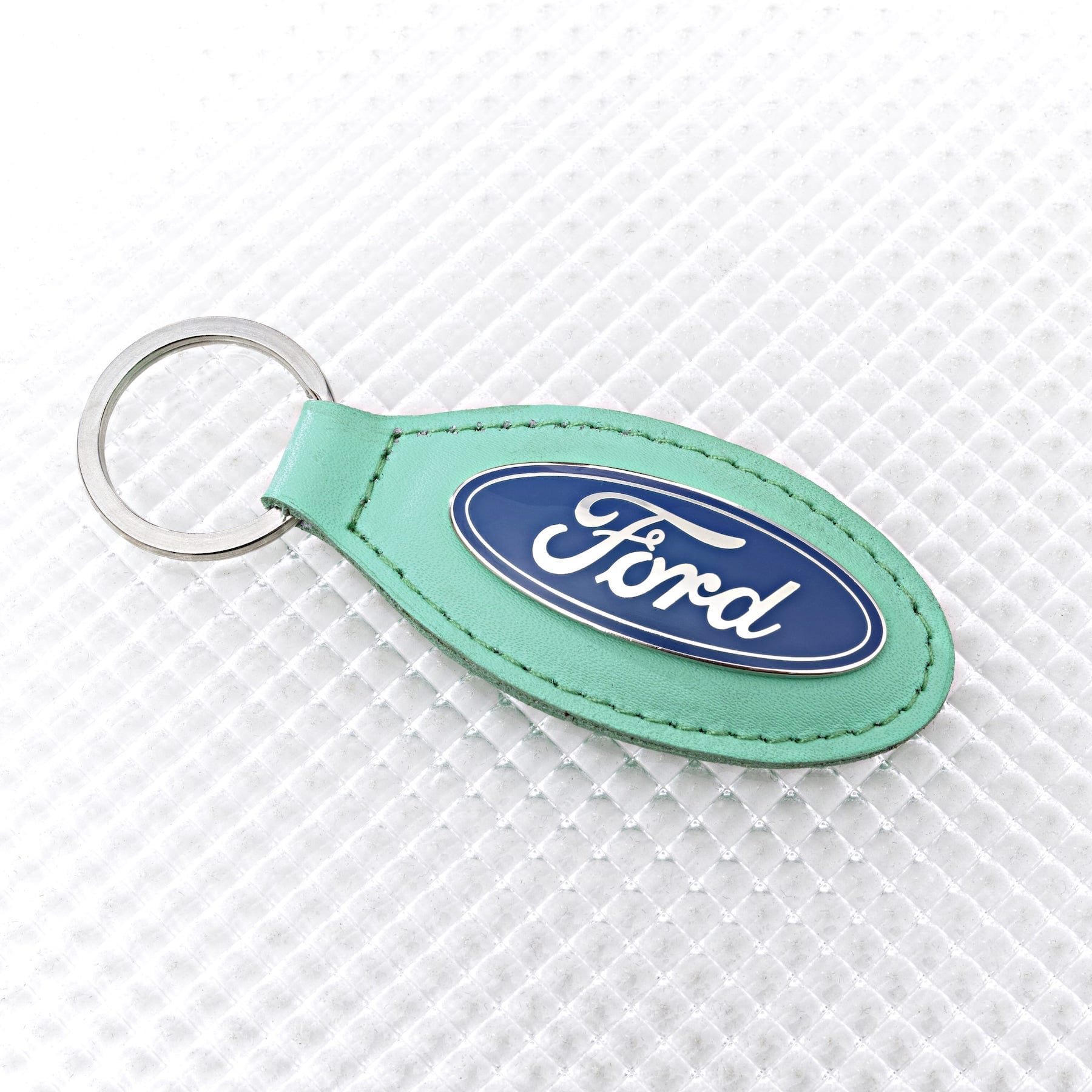 Official Licensed Ford Merchandise Ford Logo Key Ring - Mint Green