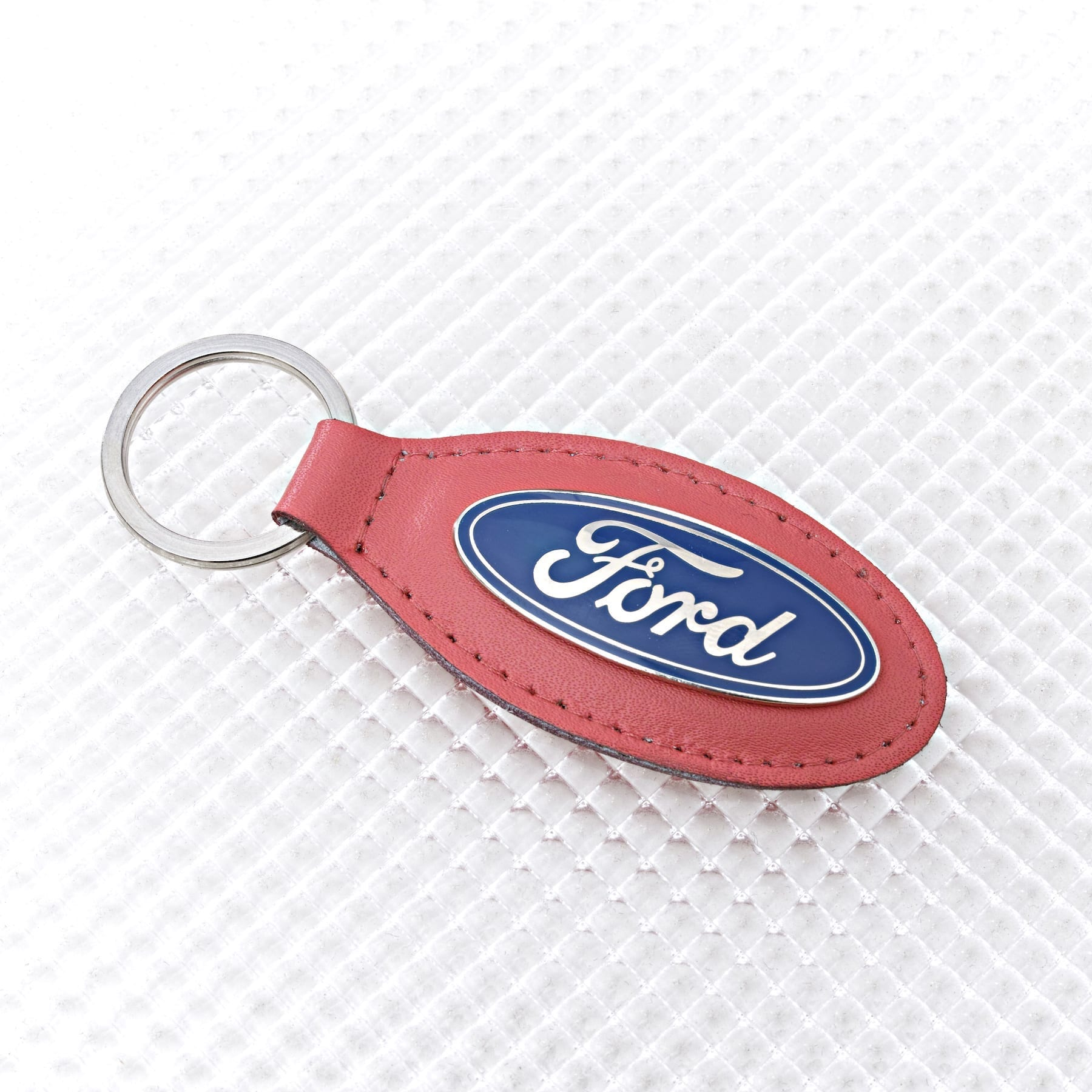 Official Licensed Ford Merchandise Ford Logo Key Ring - Red