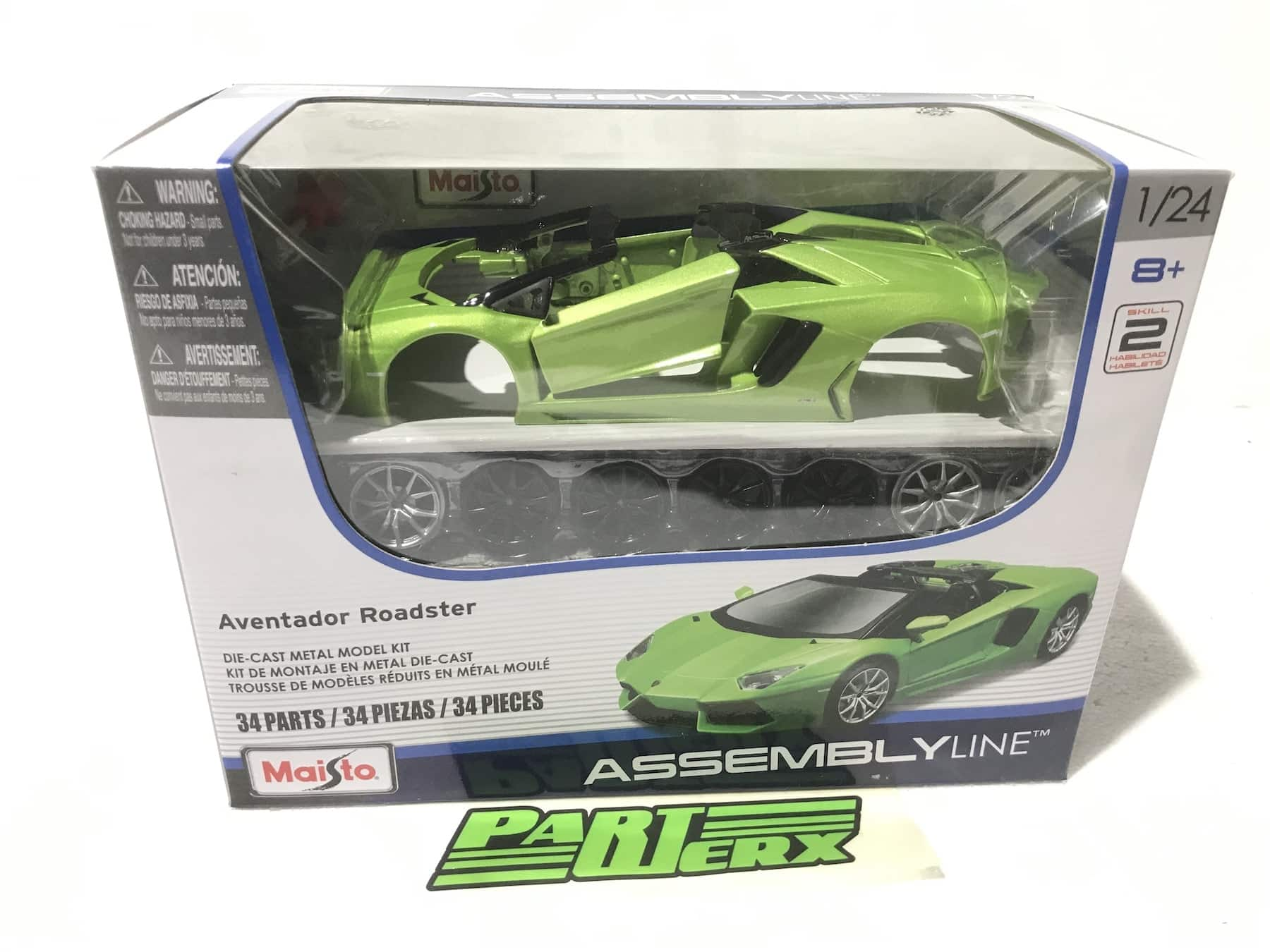 Lamborghini Aventador LP700-4 Roadster Kit Special Edition 1:24 Scale Model Car Christmas Gift Xmas Birthday Present