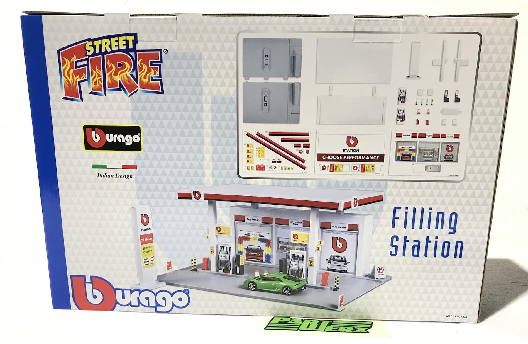 Petrol Station Playset Garage 1:43 Scale Model Toy Bburago Christmas Gift Xmas Birthday Present