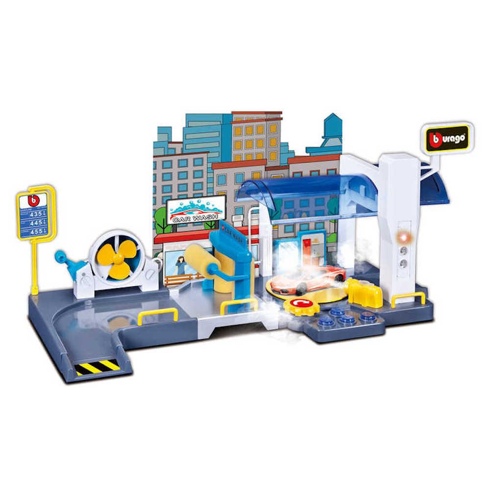 Car Wash Playset Garage 1:43 Scale Model Toy Bburago Christmas Gift Xmas Birthday Present