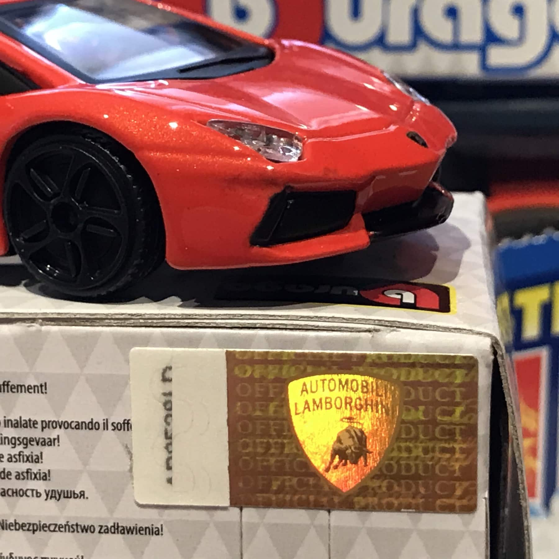 Lamborghini Street Fire Red 1:43 Scale Model Car Toy Childs Kids Dads Enthusiasts Collectors Gift Present