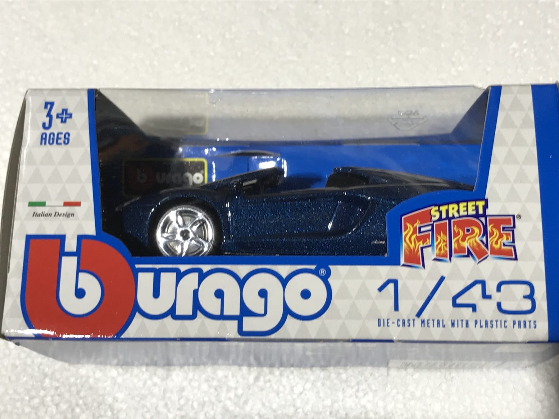 Lamborghini Blue Street Fire 1:43 Scale Model Car Toy Childs Kids Dads Enthusiasts Collectors Gift Present