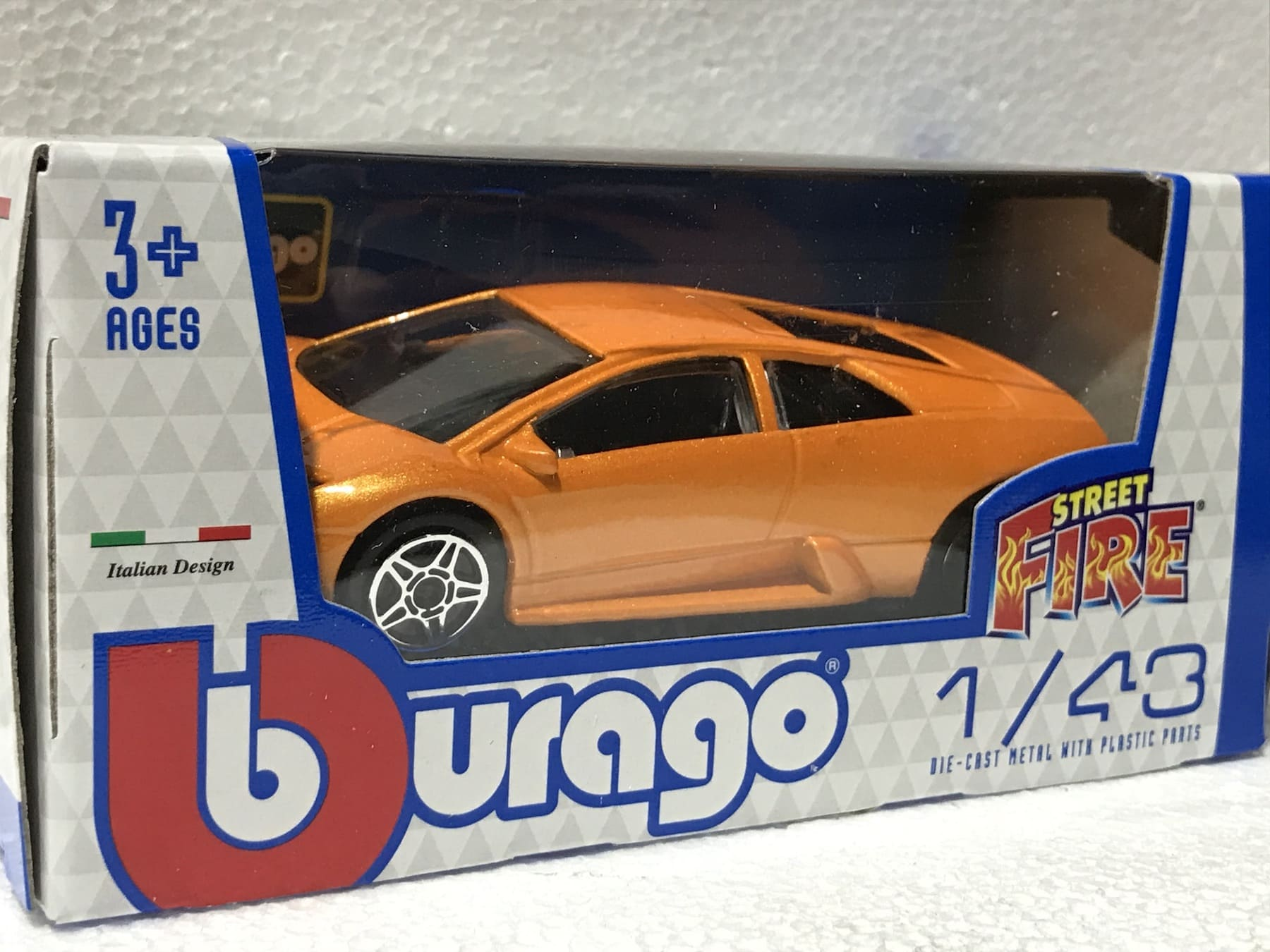 Lamborghini Orange Street Fire 1:43 Scale Model Car Toy Childs Kids Dads Enthusiasts Collectors Gift Present