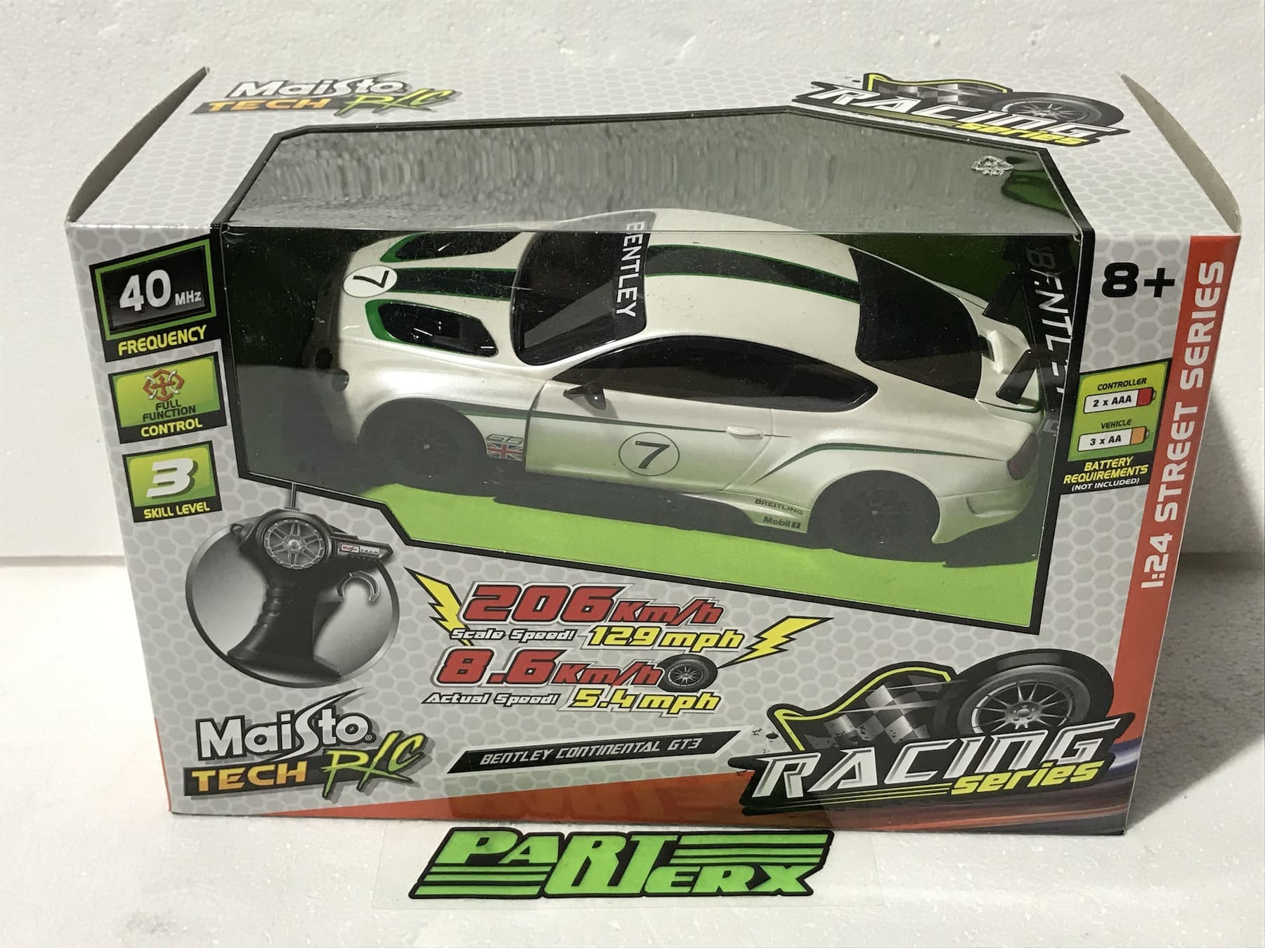 Bentley Continental GT3 3 1:24 RC Radio Controlled Scale Model Car Kids Dads Gift Birthday Present