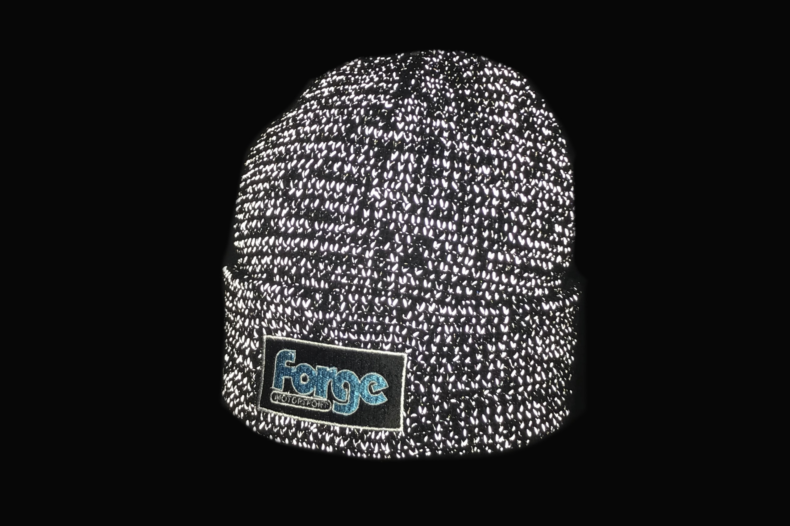 Forge Motorsport Reflective Beanie Hat Woolie Fans Accessory Gift Xmas Birthday Present