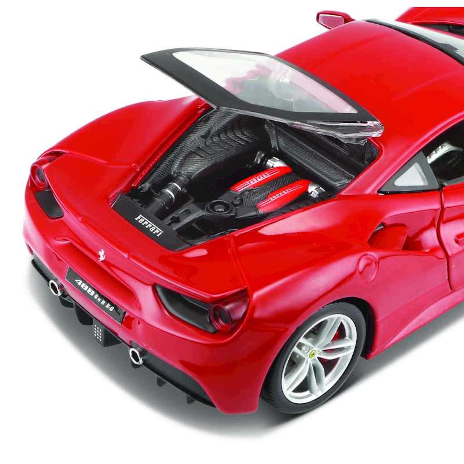 Ferrari 488 GTB Assembly Kit 1:24 Build Model Car Toy Childs Kids Dads Birthdays Collectors Gift