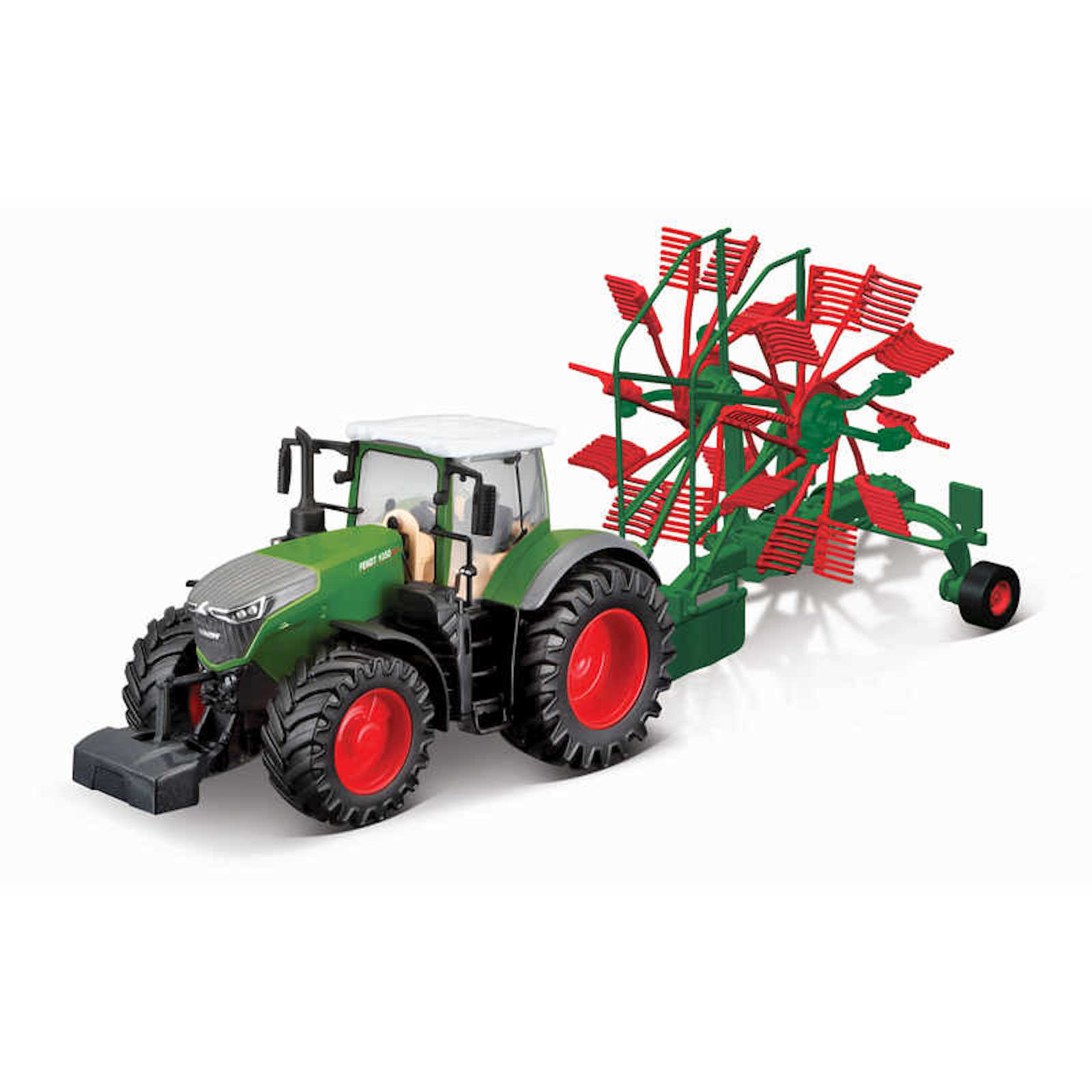 Fendt 1050 Vario Tractor With Whirl Rake Model Toy Childs Kids Dads Birthday Collectors Gift